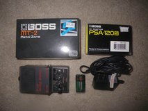 Boss MT2 Metal Zone Distortion Pedal w/ Charger in Camp Pendleton, California