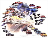 OFFICIAL MIDDLE GEORGIA RACEWAY COMMEMORATIVE PRINT COMMISSIONED BY OVER 100 DRIVERS/TEAMS in Warner Robins, Georgia