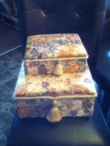 Wood Tapestry Jewelry Box in Fort Campbell, Kentucky