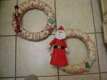 Nutcracker, Santa, Or Snowman Christmas Wreaths - REDUCED in Houston, Texas