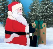 small santa with box in Fort Polk, Louisiana
