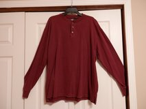 Maroon Mens  Henley in Fort Riley, Kansas