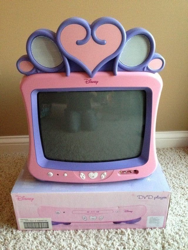 Disney Princess tv And Dvd Player Disney Princess 13 Color tv